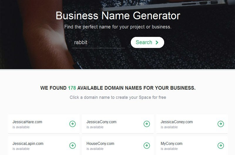 Business name generator - GoSpace