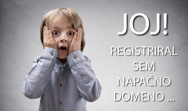 Registracija domene - napake